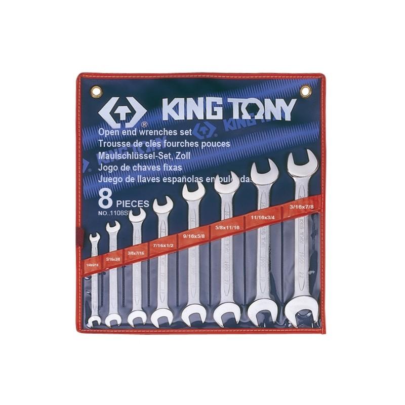 Trousse de clés fourches en pouces - 8 pièces - 1108sr