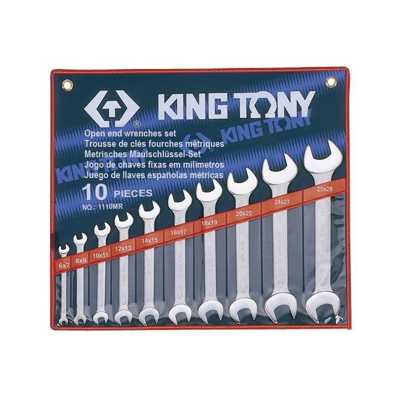 Trousse de clés fourches métriques - 10 pièces - 1110mr