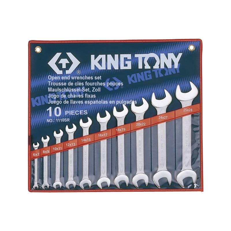 Trousse de clés fourches en pouces - 10 pièces - 1110sr