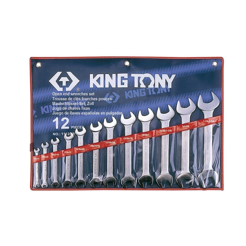 Trousse de clés fourches en pouces - 12 pièces - 1112sr