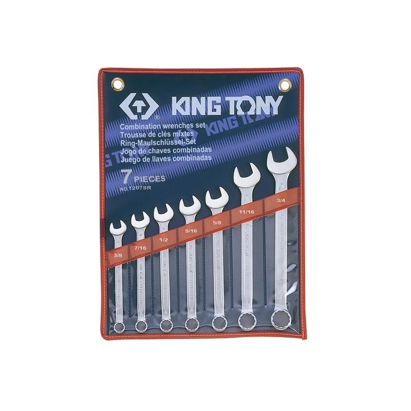 Trousse de clés mixtes en pouces - 7 pièces - 1207sr