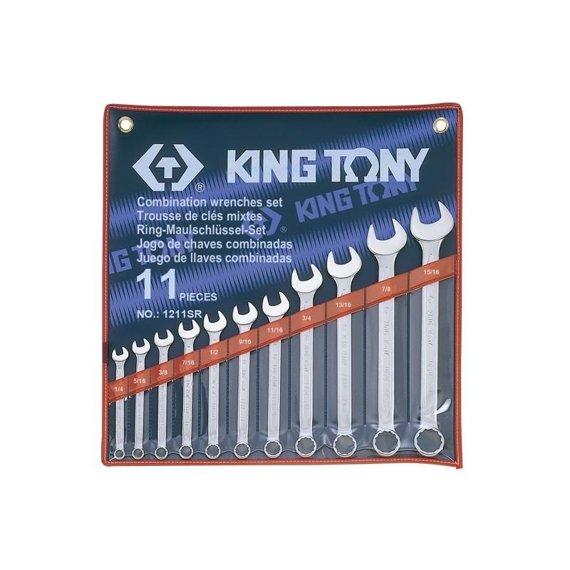 Trousse de clés mixtes en pouces - 11 pièces - 1211sr