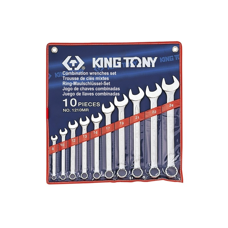 Trousse de clés mixtes métriques - 10 pièces - 1210mr