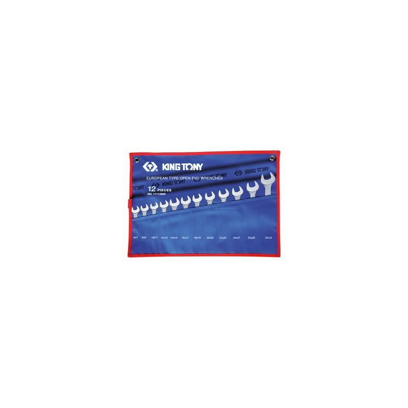 Trousse de clés fourches métriques - 12 pièces - 1112mr