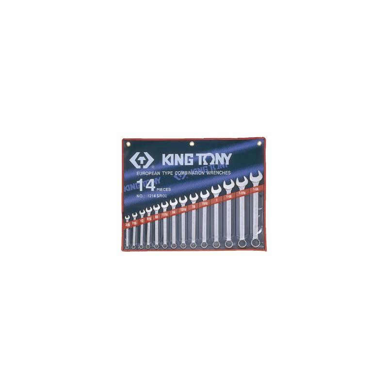 Trousse de clés mixtes en pouces - 14 pièces - 1214SR01