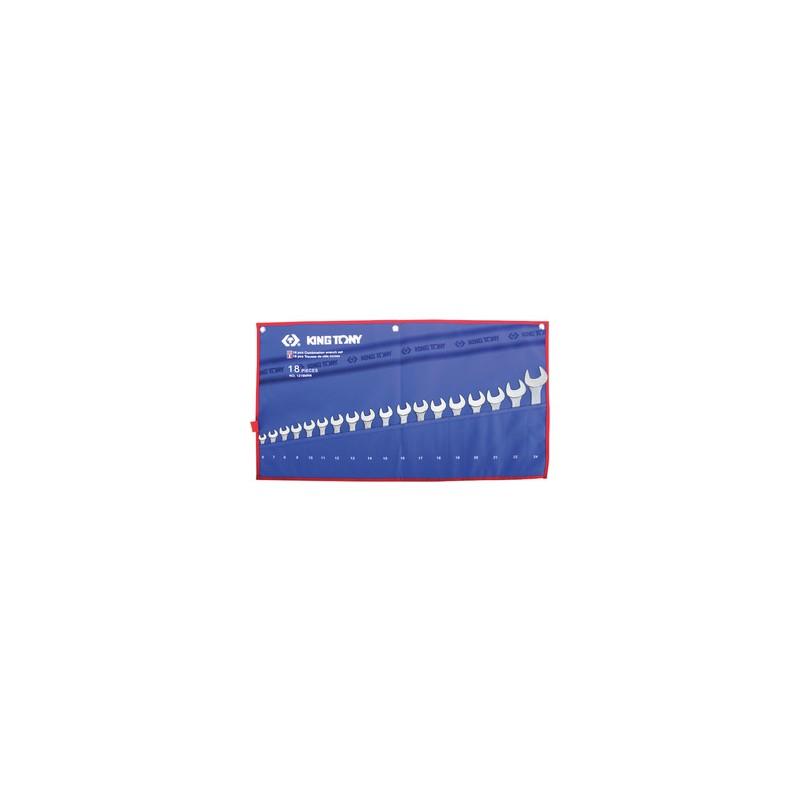 Trousse de clés mixtes métriques - 18 pièces - 1218MRN