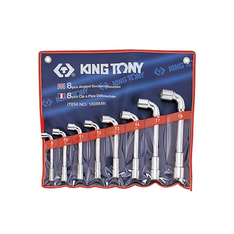 Trousse de clés à pipe métriques - 8 pièces - 1808MR