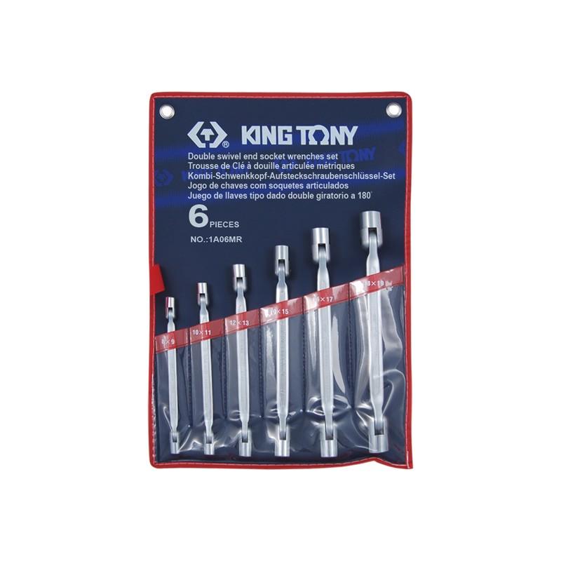Trousse de clé à douille articulée métriques - 6 pièces - 1A06MR