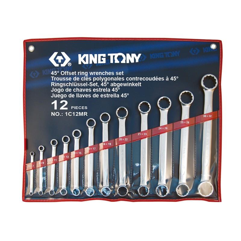 Trousse de clés polygonales droites métrique - 12 pièces - 1C12MR