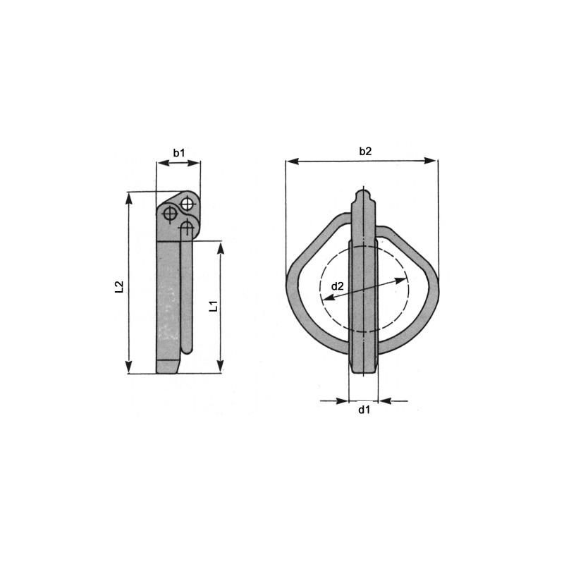 GOUPILLE CLIP BICHRO 6,5(06X42) RUBIG