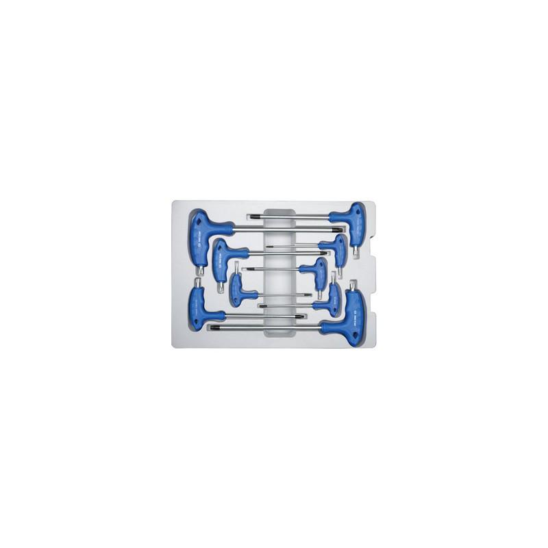 Thermoformé de clés mâles Torx à poignée en l - 9 pièces - 22309PR