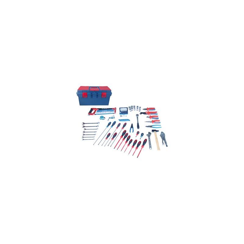 Caisse à outils electrité-electromécanique - 70 pièces - 41570ELECT