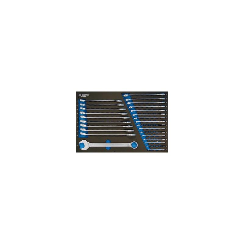 Plateau Evawave de clés mixtes métriques - 26 pièces - 91226MRE