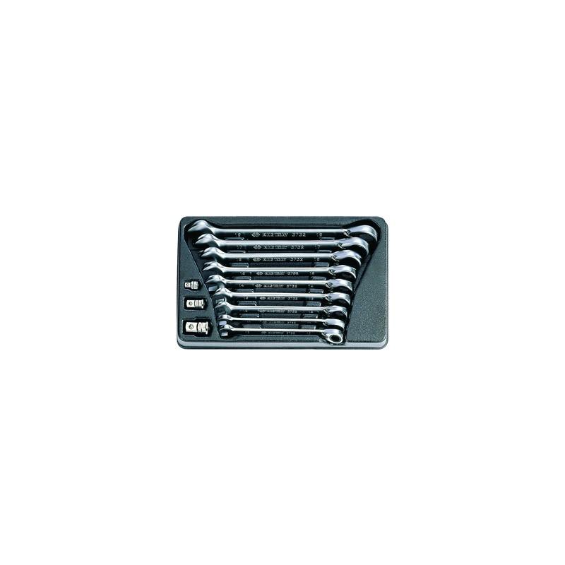 Thermoformé de clés mixtes à cliquet réversible - 12 pièces - 910212MR