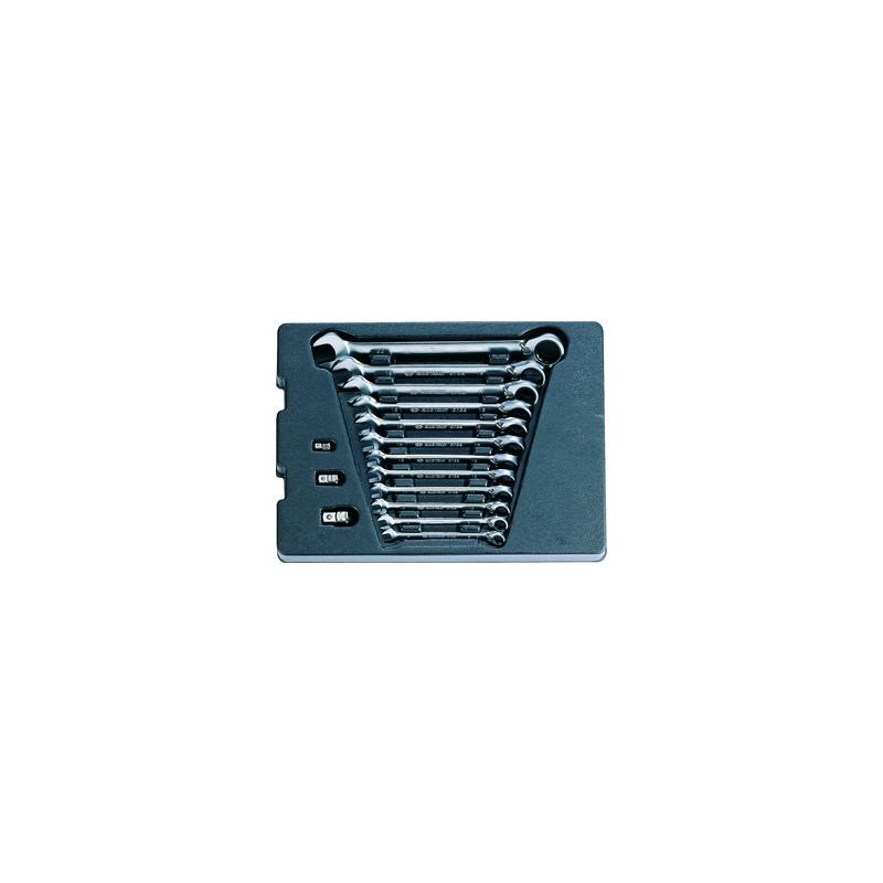 Thermoformé de clés mixtes à cliquet réversible - 15 pièces - 910215MR