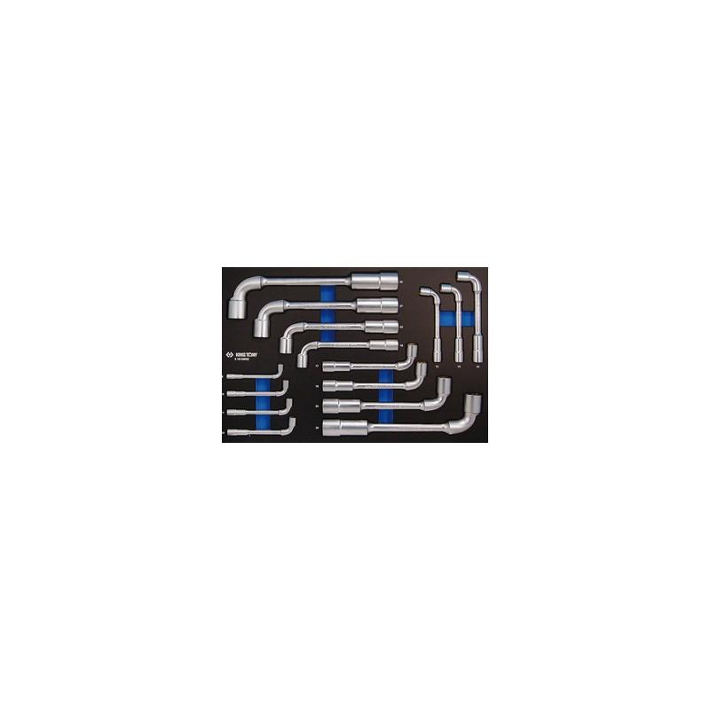"""Plateau Evawave de de clés à pipe """"6x12 pans"""" - 15 pièces - 91815MRE"""