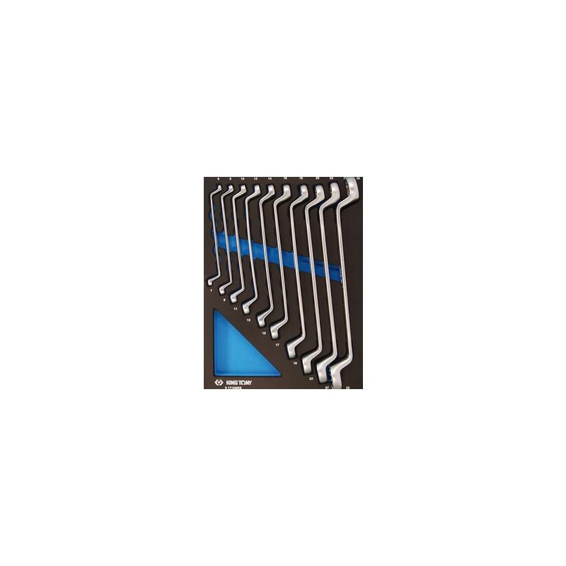 Plateau Evawave de clés polygonales contrecoudées métriques - 10 pièces - 91710MRE
