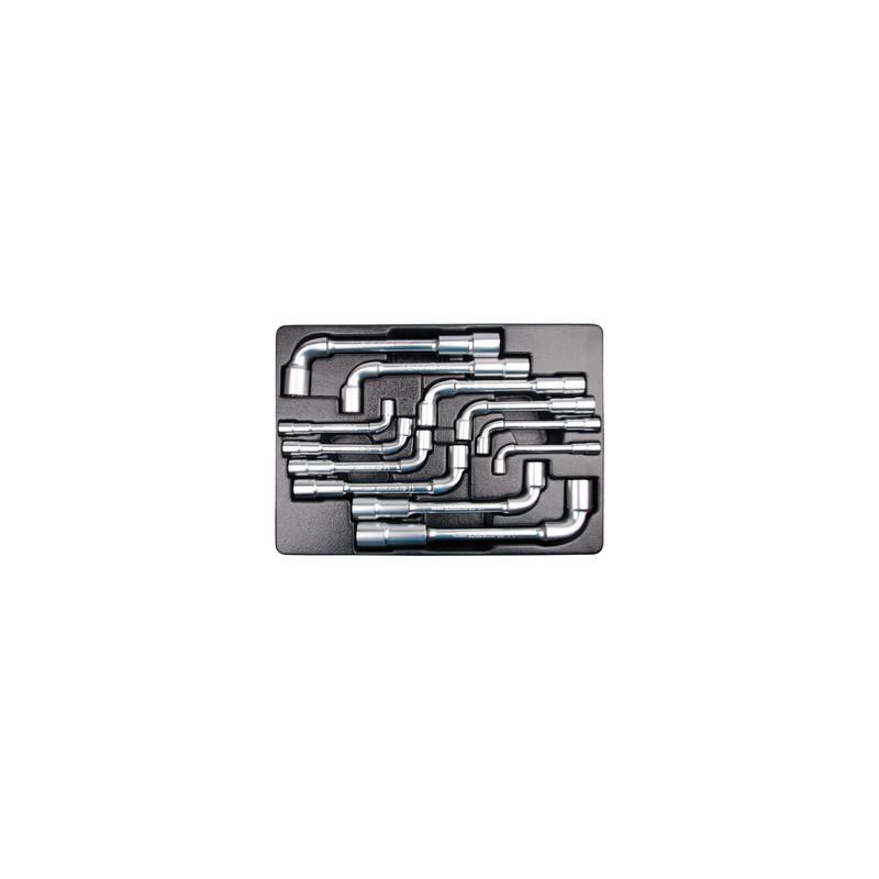 """Thermoformé de clés à pipe """"6x6 pans"""" - 12 pièces - 91912MR"""