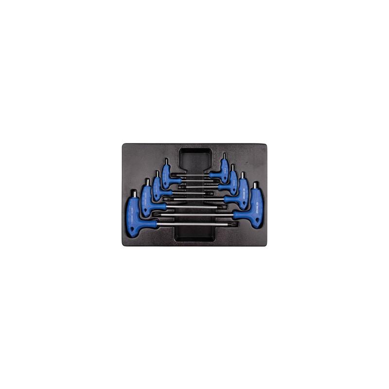 Thermoformé de clés mâles 6 Pans à poignée en l - 8 pièces - 922108MR