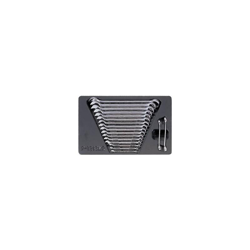 Thermoformé de clés mixtes et de clés à tuyauter - 18 pièces - 91218mr