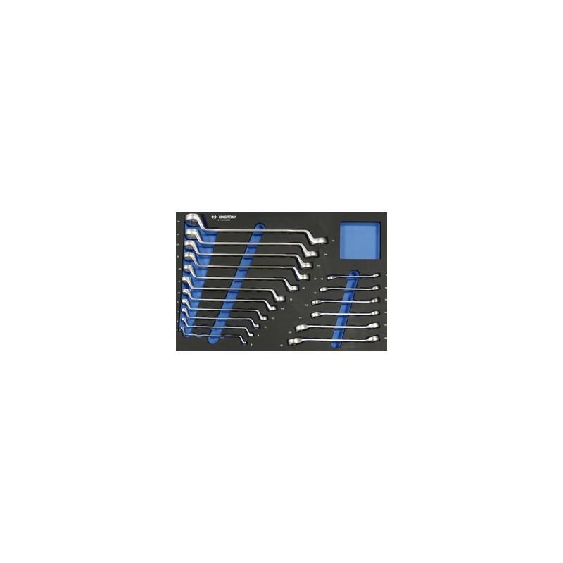 Plateau Evawave de clés polygonales et à tuyauter métriques - 17 pièces - 991017MRE