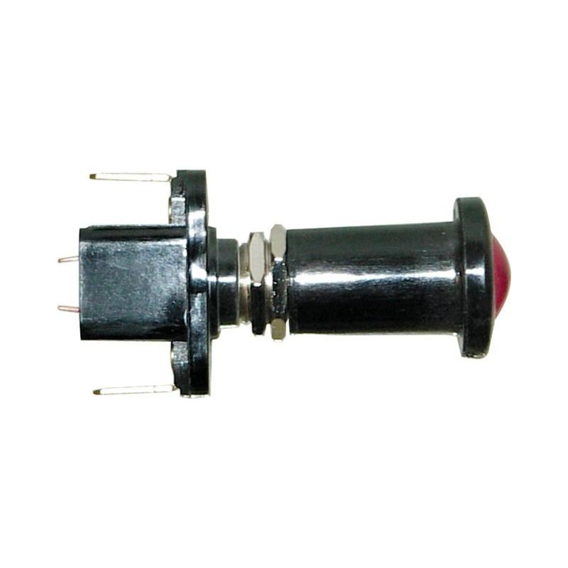Interrupteur tirette lumineux rouge - Tension 12 V 10 A - 2 connexions plates - Lampes 12 V - 2 W BA 7 S