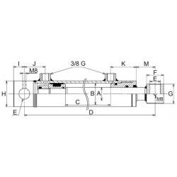 Vérin hydraulique double effet standard 40x70 mm C500 EAf 710 (4075)