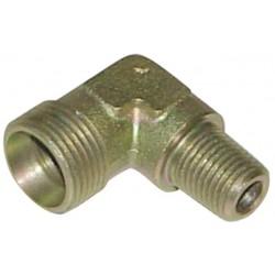 Raccord hydraulique coudé mâle-mâle CM06/08x13co nu