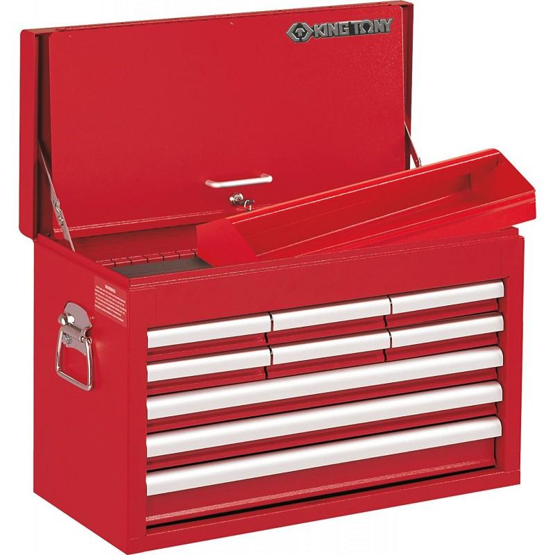 Caisse à outils 9 tiroirs métallique transportable King Tony