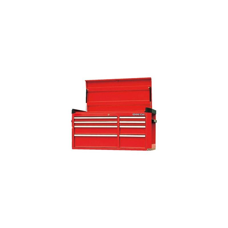 Caisse à outils grand format 8 tiroirs avec soute supérieure