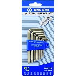 Jeu de 7 clés mâles RESISTORX en étui King Tony 20407PR