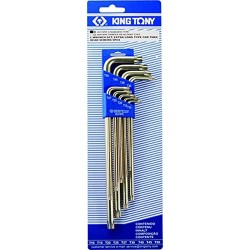 9 clés mâles longues TORX en étui King Tony 20319pr