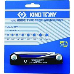 Jeu de 8 clés mâles TORX sur monture King Tony 20308pr
