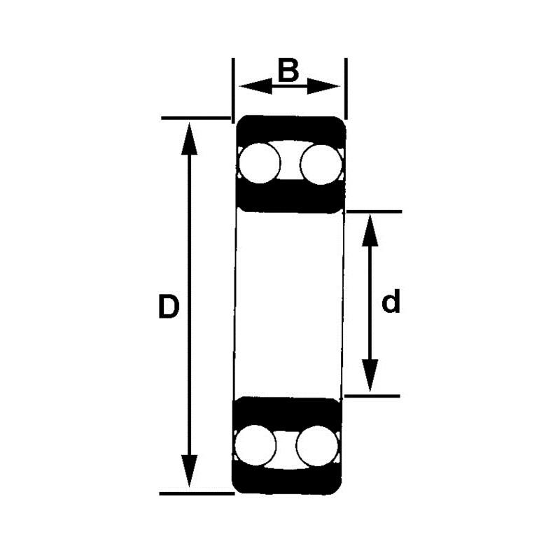 Roulement à rotule 35x72x17 mm NTN 1207 C3 | Roulement rotule double bille NTN