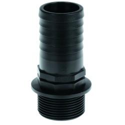 "Raccord droit diamètre 40 mm l72 filt.M1""1/2 40x49 P.P"