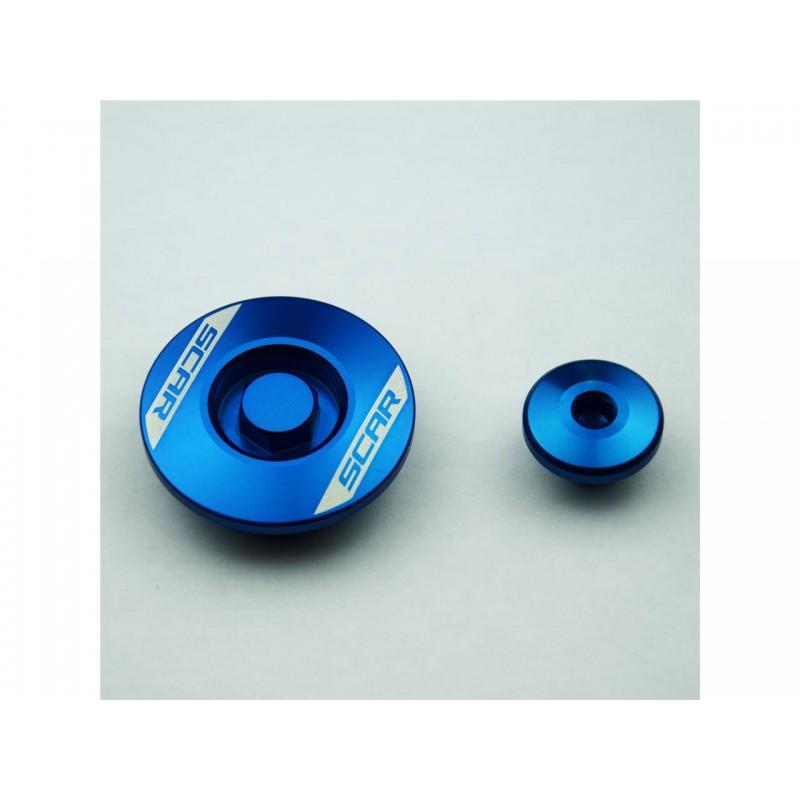 BOUCHON MOTEUR LAT. SCARYZF450 10-13 BLUE