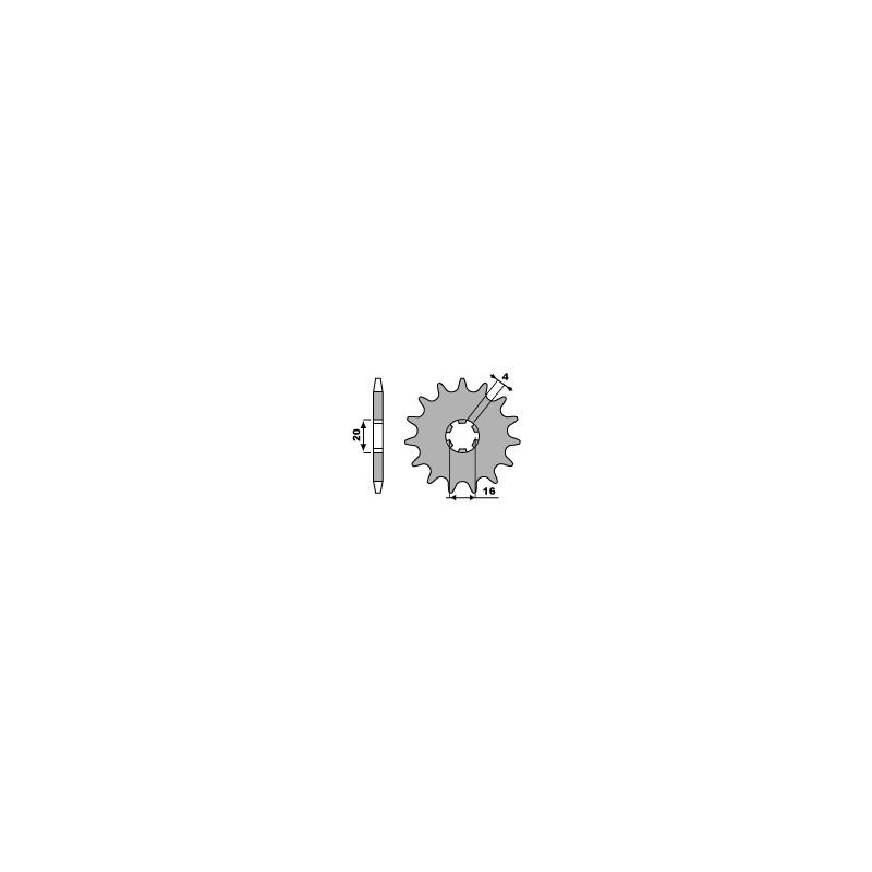 PIGNON 14 DENTSRM65 '86-01/RM85 '02-06 YZ80 '93-01