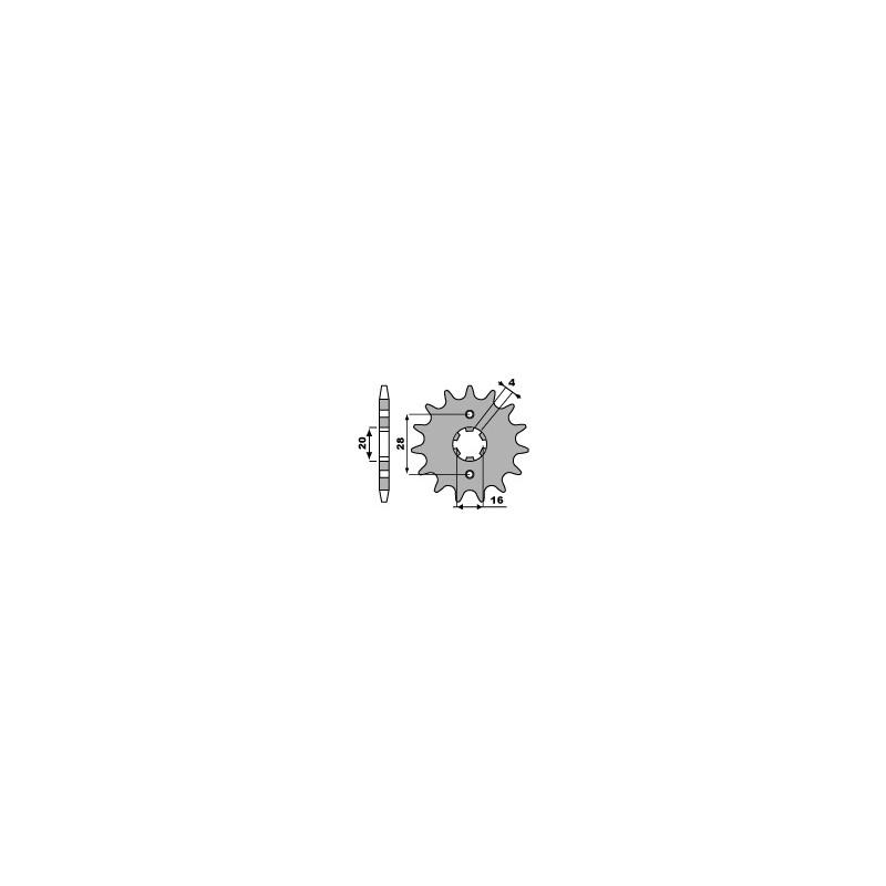PIGNON 12 DENTSSUZUKI TSR125R '90-94 CHAINE 520