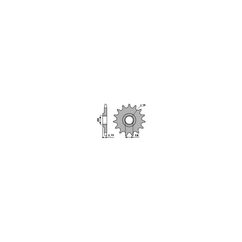 PIGNON 13 DENTSRM125 87-09 RM-Z250 10-12