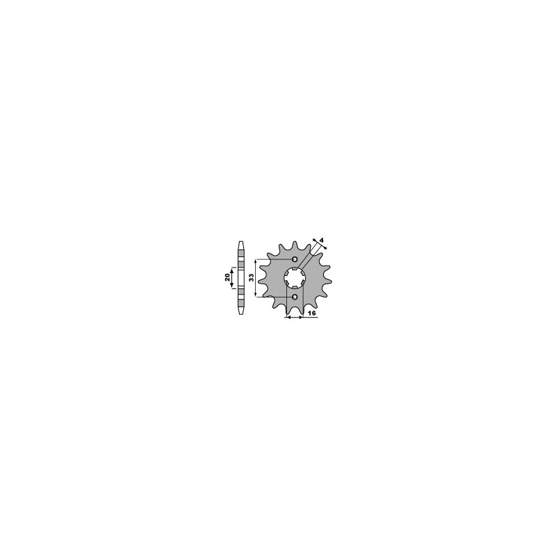 PIGNON 14 DENTSKX125 83-84