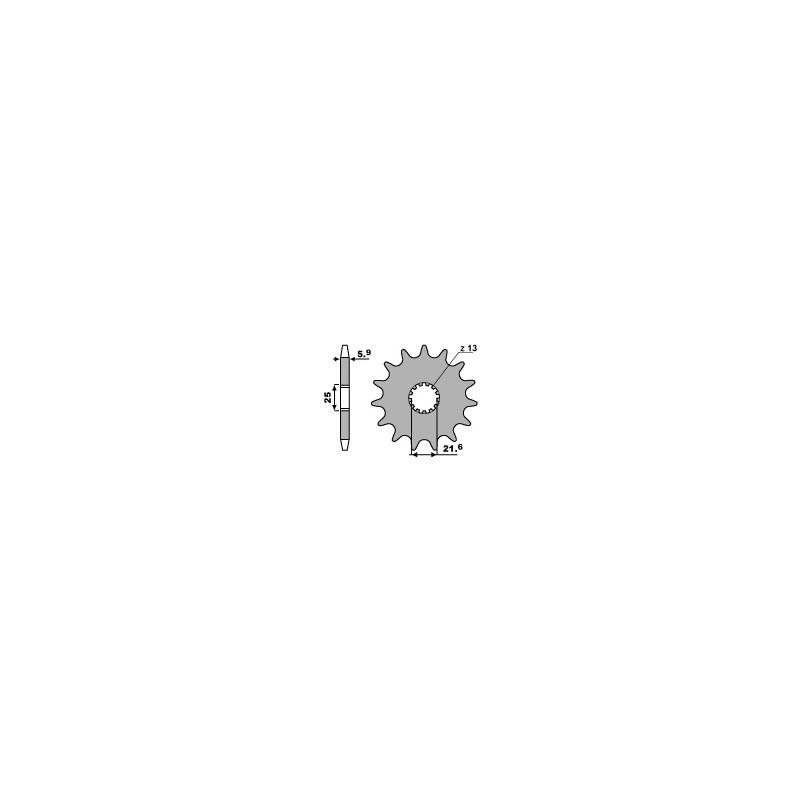 PIGNON 13 DENTSKX250-YZ250 '99-08 YZF-WRF400-426-450