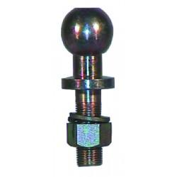 Rotule d'attelage droite de 50 mm filetage 19 mm