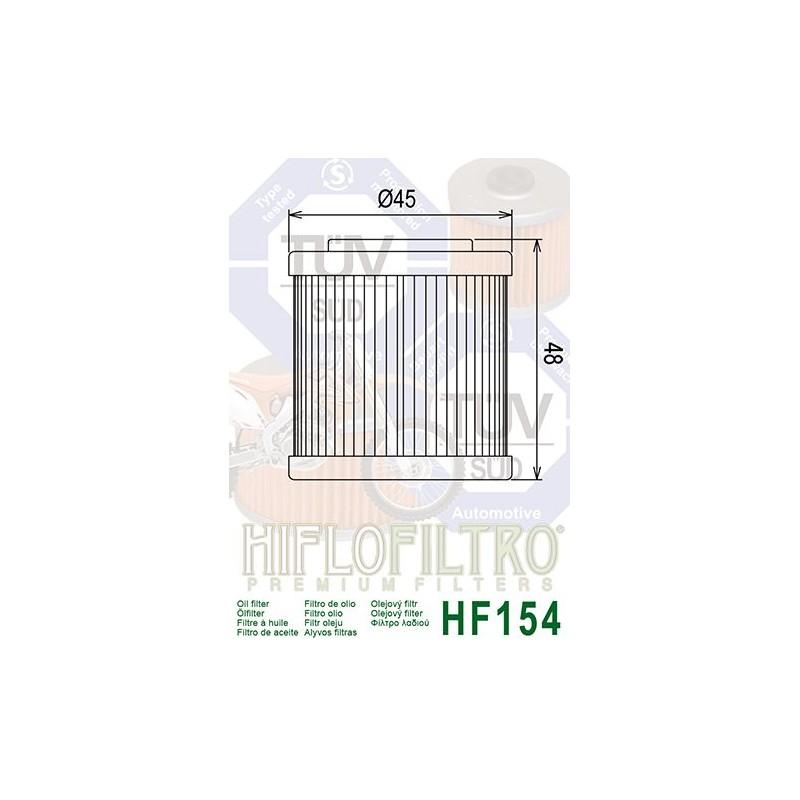 FILTRE A HUILE HF154HUSQVARNA '94-02