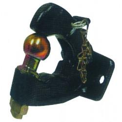Crochet attelage type Jeep boule diamètre 50 mm 2 trous de fixation Ø 17, entraxe 90 mm