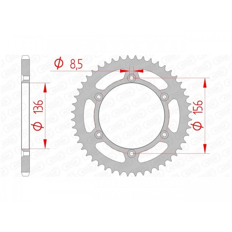 COURONNE AFAM ACIERBETA RR 350 ENDURO 44D - 14206 - 520