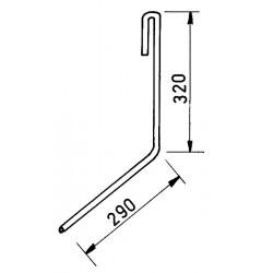 """Dent """"flexi-doigt"""" adaptable Amazone diamètre 9 mm longueur 490 mm gauche"""