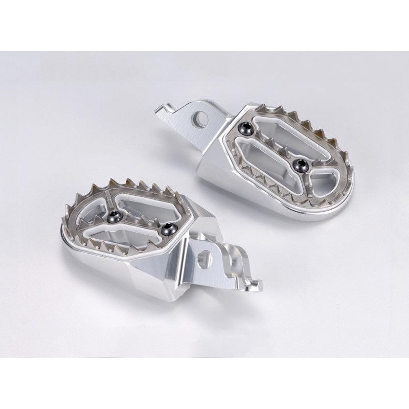 REPOSE PIEDS BIHR EVO.CRF250 04-17/CRF450 02-17 COULEUR ARGENT