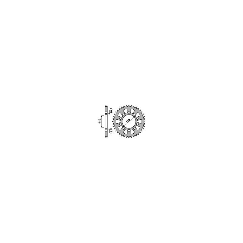 COURONNE ACIER 39 DENTSYAMAHA YZF 1000 39D-4384 -520