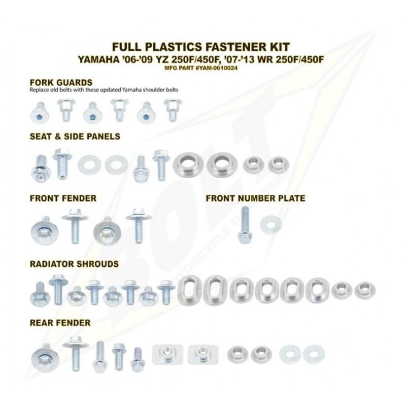 BOLT KIT VIS PLAST. YAM06-09 YZ250F/450F 07-13 WR250F&07-11 WR450F