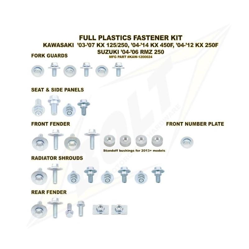 BOLT KIT VIS PLAST. KAWA13 KX250F / 12-13 KX450F